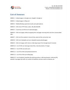 SEO Audit Table of Contents